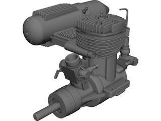 RC Engine OS FX 0.61 CAD 3D Model