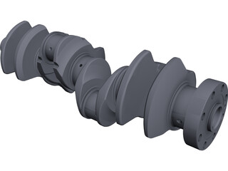 Crankshaft CAD 3D Model