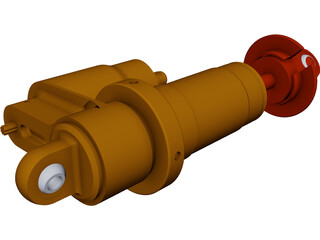 Shock Absorber PA-7800 CAD 3D Model