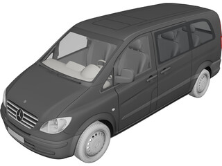 Mercedes-Benz Vito (2005) 3D Model