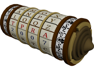 Cryptex 3D Model 3D Preview