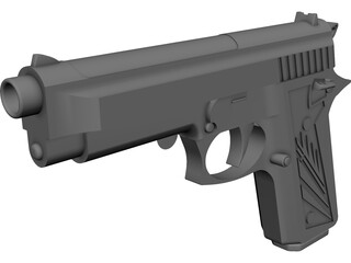 Beretta 9mm CAD 3D Model