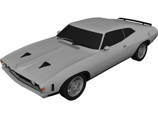 Ford Falcon XA GT 3D Model