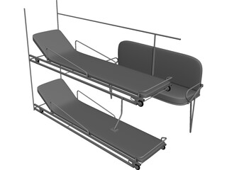 Rear Seats for Ambulance 3D Model
