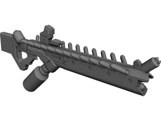 District 9 Assault Rifle CAD 3D Model