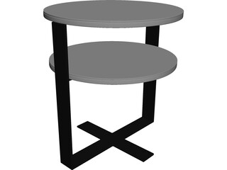 Low Table 3D Model