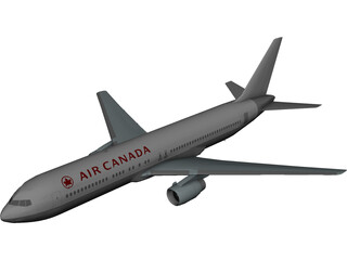 Boeing 767 Air Canada [+Interior] 3D Model