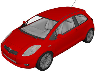 Toyota Yaris 3D Model 3D Preview