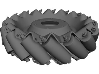 Mecanum Wheel Right CAD 3D Model