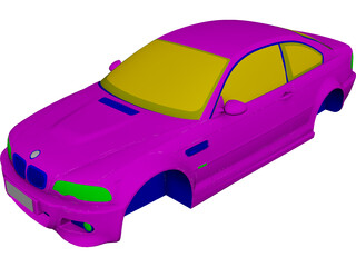 BMW M3 Body CAD 3D Model