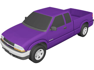 Chevrolet S10 3 Door Extended Cab (1998) 3D Model