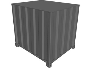 Shipping Cargo Square Container CAD 3D Model