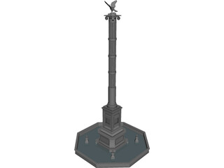 Eagle Monument 3D Model 3D Preview