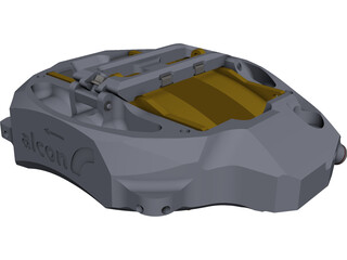 Brake Caliper Alcon GT CAD 3D Model