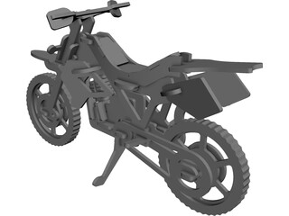 Plywood Motorcycle Enduro CAD 3D Model