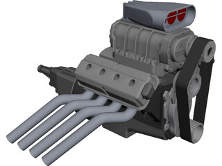 Engine 392 Hemi CAD 3D Model