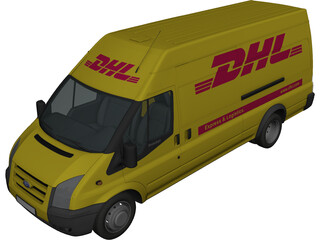 Ford Transit Jumbo 3D Model 3D Preview