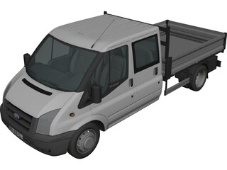 Ford Transit Benne Double Cabine 3D Model