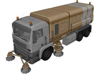 MAN TGA Street Cleaning Truck 3D Model