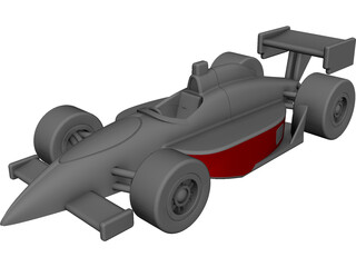 Indy Race Car CAD 3D Model