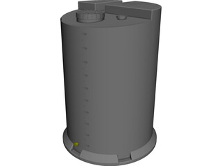 Chemical Tank CAD 3D Model