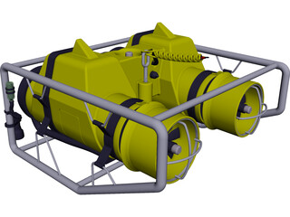 Undersea Pipeline Inspection ROV 3D Model