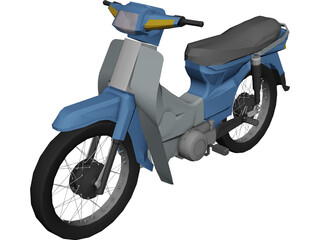 Honda C100 Dream 3D Model