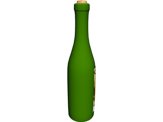 Bottle of Wine 3D Model