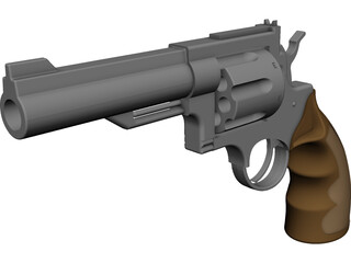 Smith and Wesson Revolver CAD 3D Model