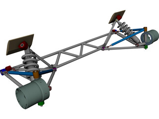 Suspension CAD 3D Model