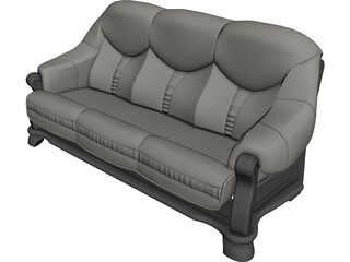 Sofa Leather 3D Model