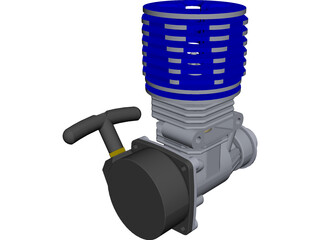 RC Engine CAD 3D Model