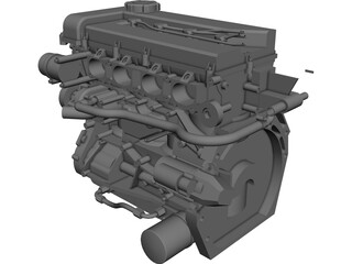 Engine Nissan SR20 3D Model