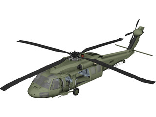 Sikorsky UH-60 Black Hawk 3D Model