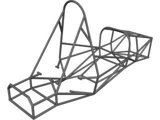 Chassis FSAE CAD 3D Model