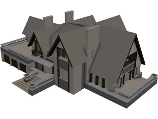 Victorian (Tudor) Style Cottadge 3D Model