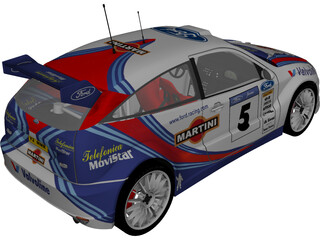 Ford Focus WRC 3D Model