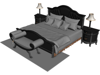 Classic Bedroom Set 3D Model