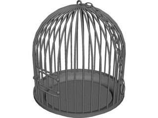 Bird Cage 3D Model 3D Preview