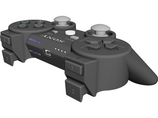Playstation 3 Controller CAD 3D Model
