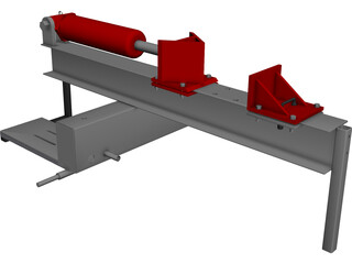I Beam Log Splitter CAD 3D Model