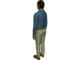 Working Man 3D Model 3D Preview