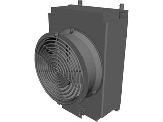 LC-200 TEC Air Cooled Liquid Chiller CAD 3D Model