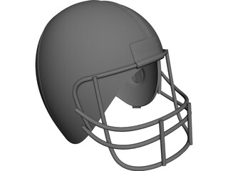 American Football Helmet CAD 3D Model