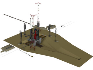 Baikonur Universal Set of Stand-Start 3D Model