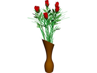 Vase with Flowers 3D Model