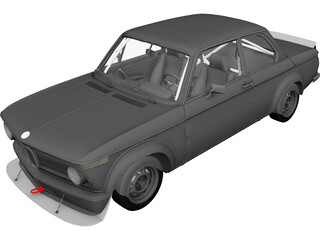 BMW 2002 Turbo (1973) 3D Model 3D Preview