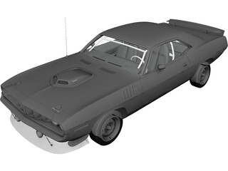 Chrysler Cuda 426 (1971) 3D Model