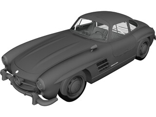 Mercedes-Benz 300SL (1954) 3D Model