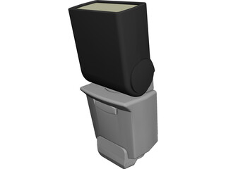 Canon 420 EX Camera Flash CAD 3D Model